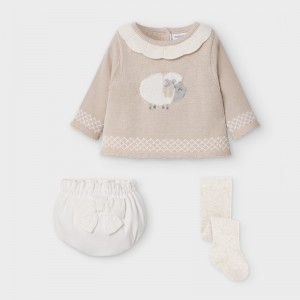 Set pantalon scurt bufant si pulover fetita MAYORAL 2212 MYSET23V