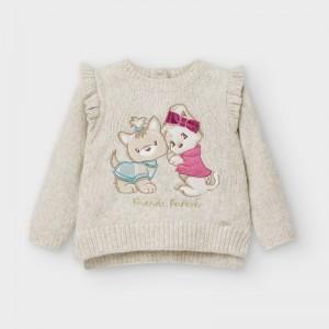 Pulover bej tricot bebe fetita MAYORAL 2357 MYBL18V