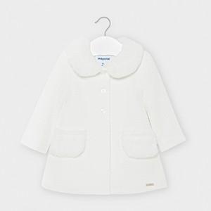 Palton alb material texturat  fetita  MAYORAL 2407 MYG04V