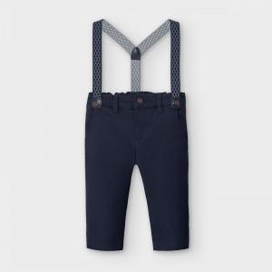 Pantaloni bleumarin cu bretele baiat MAYORAL 2575 MYPL18V