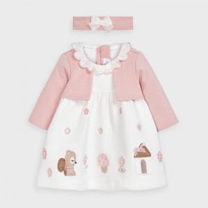 Set rochie roz cu bentita fetita MAYORAL 2851 MYR01V