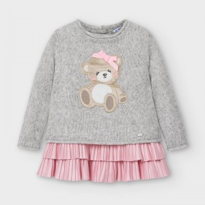 Rochie gri tricot urs fetita MAYORAL 2948 MYR17V