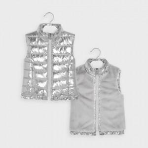 Vesta argintie reversibila fetita MAYORAL 04352 MYV04V
