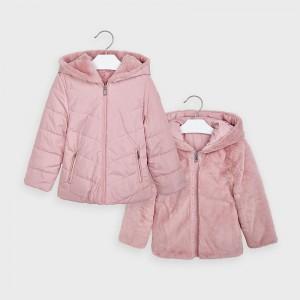 Geaca roz reversibila blanita fetita MAYORAL 4418 MYG30V