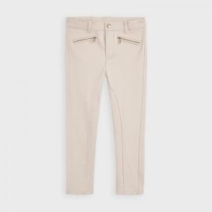 Pantaloni bej lungi aspect satinat fetita MAYORAL 4554 MYPL16V