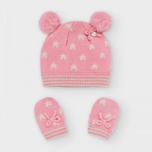 Set roz inchis caciula urechiuse si manusi fetita MAYORAL 9316 MYSET20V