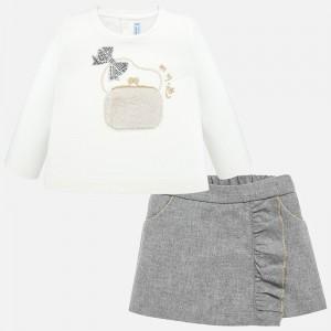 Set bluza si pantaloni scurti bebe fetita MAYORAL 2208 myset49p