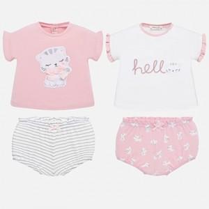 Set tricouri desen si chilotei bebe fetita nou-nascuta MAYORAL 01651 MYSET67P