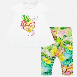 Set tricou si leggings bebe fetita MAYORAL 1709 myset39p