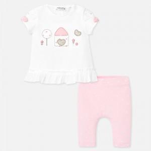 Set tricou si leggings cu buline bebe fetita MAYORAL 1766 myset20p