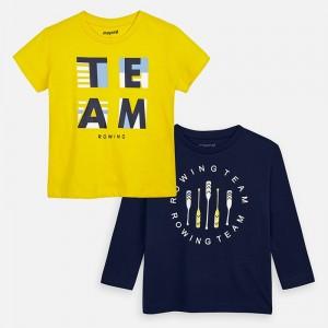 Set tricouri maneca lunga si scurta desen baiat MAYORAL 3076 myset24p