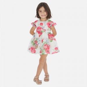 Rochie flori rosii fata MAYORAL 3930 MYR121W