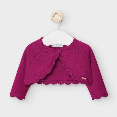 Bolero mov scurt tricot new born fata 307 MYBO102Y