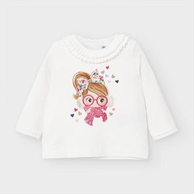 Bluza maneca lunga imprimeu bebe fetita 02055  MYBL08V
