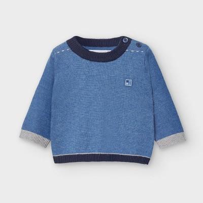 Pulover albastru simplu nou-nascut baiat 02338 MYBL11V