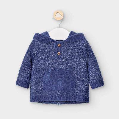 Hanorac albastru tricot ciucure baiat MAYORAL 2342 MYBL49V