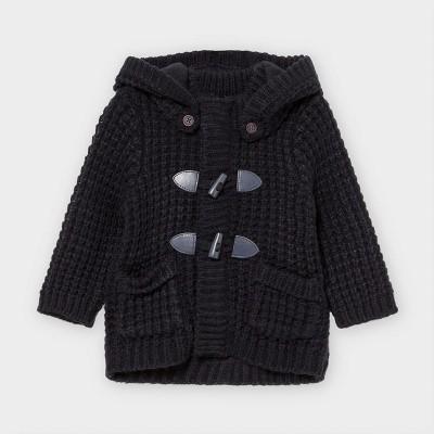 Jacheta bleumarin tricot nasturi bebe baiat 02354 MYG103Y