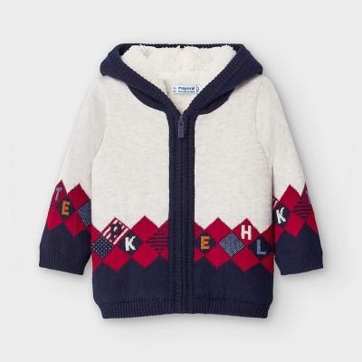 Jacheta tricot captusita romburi baiat MAYORAL 2355 MYG23V