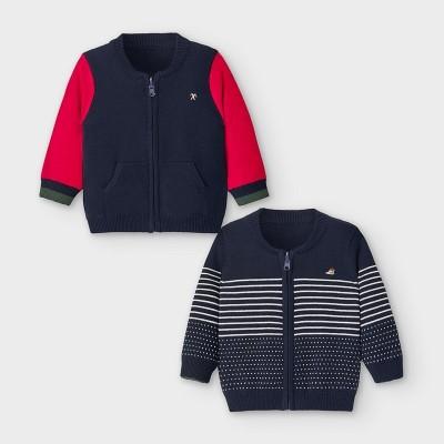 Jacheta tricot reversibila bebe baiat 2356 MYBL135Y