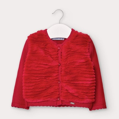 Cardigan tricot plus bebe fetita 02359 MYBL130Y