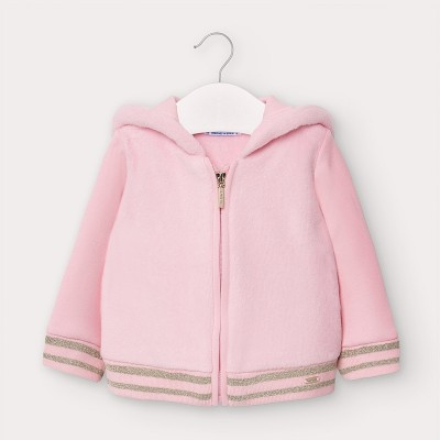 Hanorac roz plus blanita bebe fetita 02416 MYBL137Y