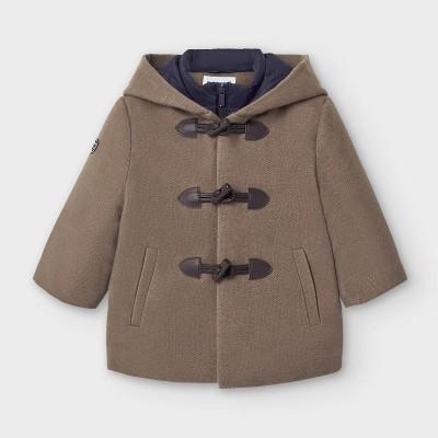 Palton maro cu gluga bebe baiat 2488 MYG114Y
