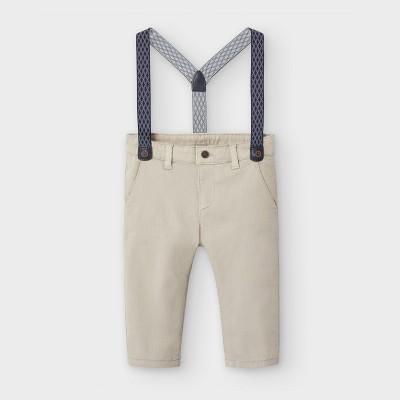 Pantaloni bej cu bretele baiat MAYORAL 2575 MYPL18V