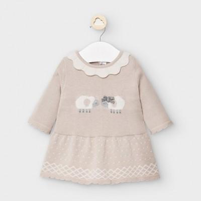 Rochie crem tricot fetita MAYORAL 2855 MYR14V