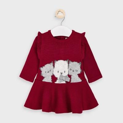 Rochie rosie tricotata pisici fetita MAYORAL 2871 MYR33V