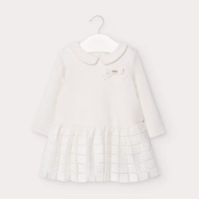 Rochie ivory tricot tul fetita MAYORAL 2949 MYR07V