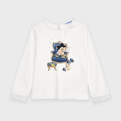 Bluza alba fetita  MAYORAL 4061 MYBL44V