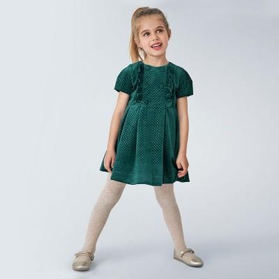 Rochie verde buline glitter fetita 4972 MYR111Y