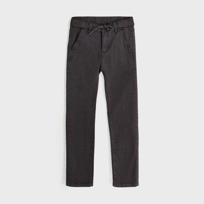 Pantaloni gri chino slim structura dungi baiat 07526 MYPL126Y