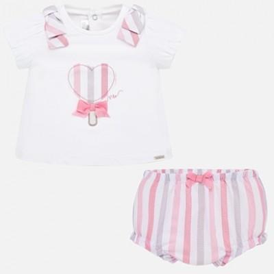 Set bluza desen si chilotei bebe fetita nou-nascuta MAYORAL 01138 MYSET66P
