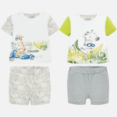 Set tricou print si pantaloni scurti baiat MAYORAL 1670 myset11p