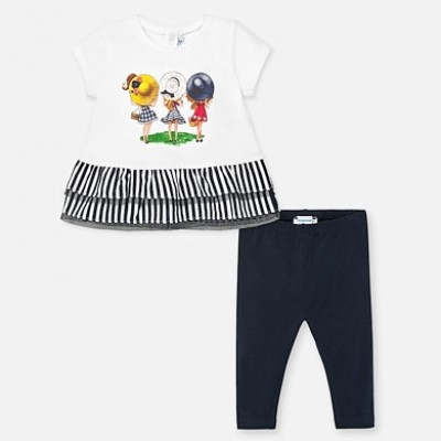Set tricou combinat si leggings bebe fetita MAYORAL 01708 MYSET63P