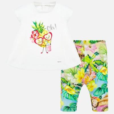 Set tricou si leggings bebe fetita MAYORAL 1709 myset39p