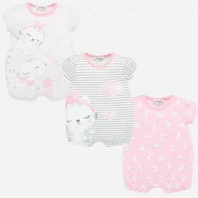 Set pijamale scurte cu imprimeu bebe fetita nou-nascuta MAYORAL 01757 MYSET18P