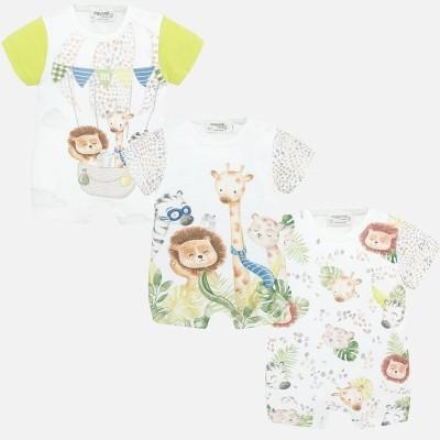 Set pijamale scurte animalute bebe baiat MAYORAL 1779 myset22p