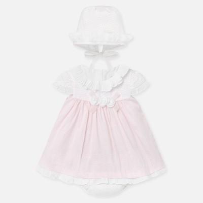 Rochie caciulita si chilotei bebe fetita nou-nascuta 01855 MYR31P