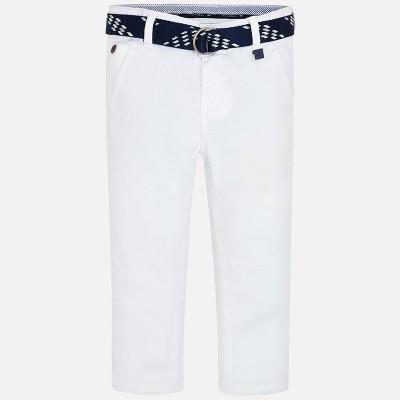 Pantaloni albi cu curea baiat MAYORAL 3531 MYPL37W