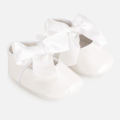 Balerini albi ceremonie bebe fetita MAYORAL 9284 mypantf05p