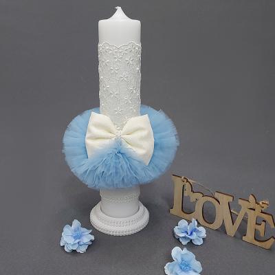 Lumanare Botez Blue Snowflake SP-LUMANARE01V
