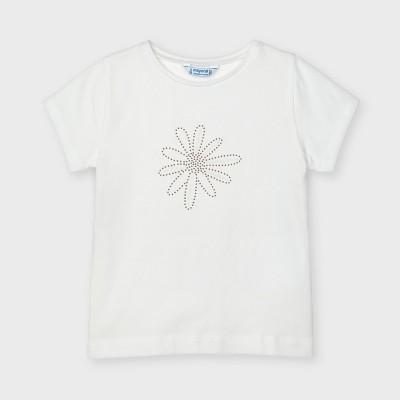 Tricou alb Ecofriends basic fetita 00174 MYBL05X
