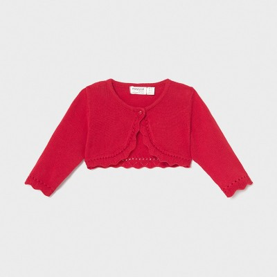 Cardigan rosu tricot Ecofriends new born fata 318 - MYBO01X