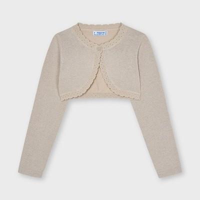 Cardigan bej tricot Ecofriends basic fata 320 MYBO06X