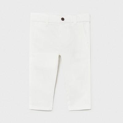 Pantaloni albi lungi chino basic sarga bebe baiat 522 MYPL19X