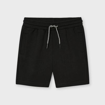 Bermude negru basic baiat 00611 MYPS01X