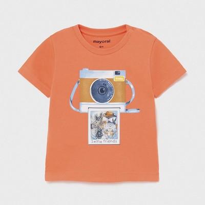 Tricou portocaliu PLAY WITH imprimeu holografic bebe baiat 1003 MYBL76X