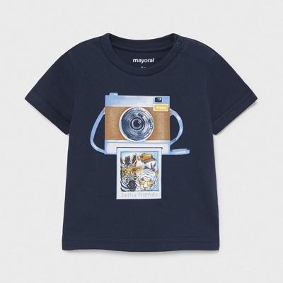 Tricou bleumarin PLAY WITH imprimeu holografic bebe baiat 1003 MYBL76X